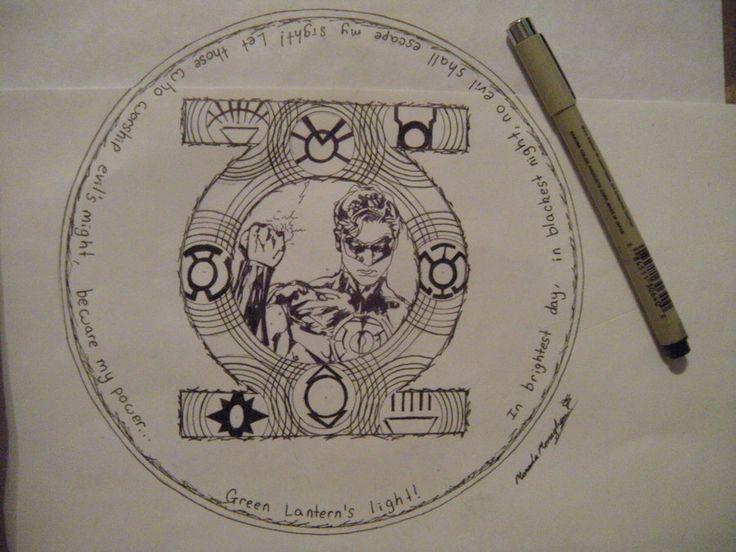 Love this!!!    Green Lantern Tattoo by ~smartcat132006 on deviantART