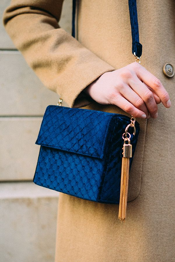 The vibrancy of New Look's quilted blue shoulder bag will stand out against a wintery grey sky. Trimmed in luxe gold hardware and featuring a playful tassel charm, wear to punctuate a monochrome look or to lend a camel coat electric edge.