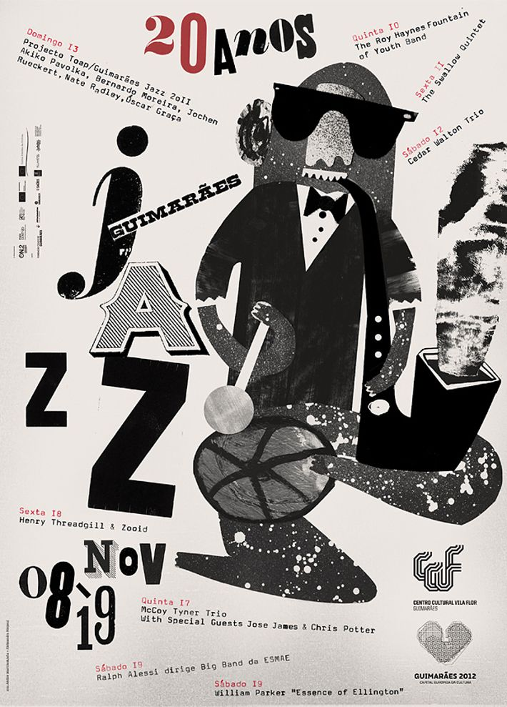 Guimarães Jazz.  Artworks: Aleksandra Niepsuj