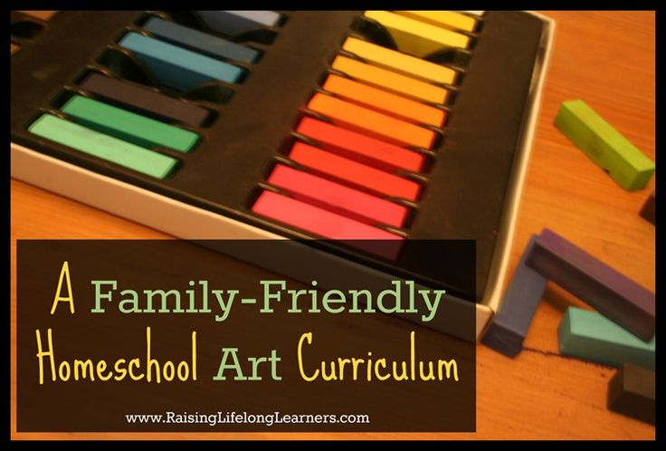 A Family Friendly & Inexpensive Homeschool Art Curriculum via www.RaisingLifelongLearners.com