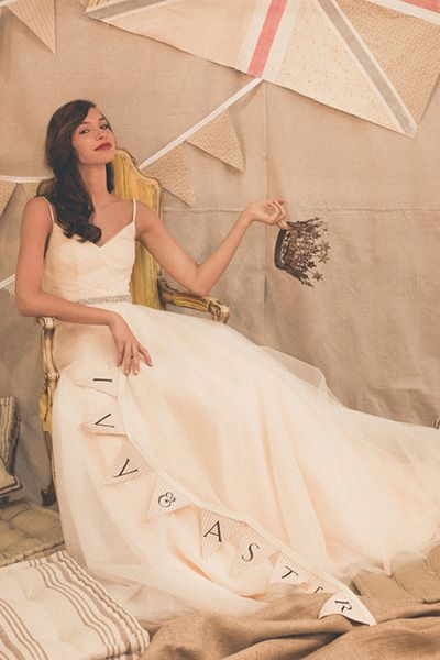Simple and sweet strappy gown.  (Ivy and Aster, style:  Duchess)