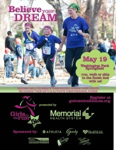 Springfield, IL - Girls on the Run!! Sign up for the 5k on May 19th!!! We need runners, walkers and volunteers! I promise it will be one of the best mornings you have this spring :) See on you on May 19th!