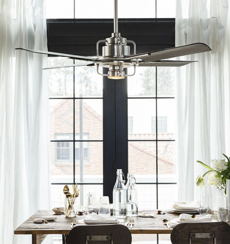 Peregrine Industrial LED Ceiling Fan. Dining Room ...
