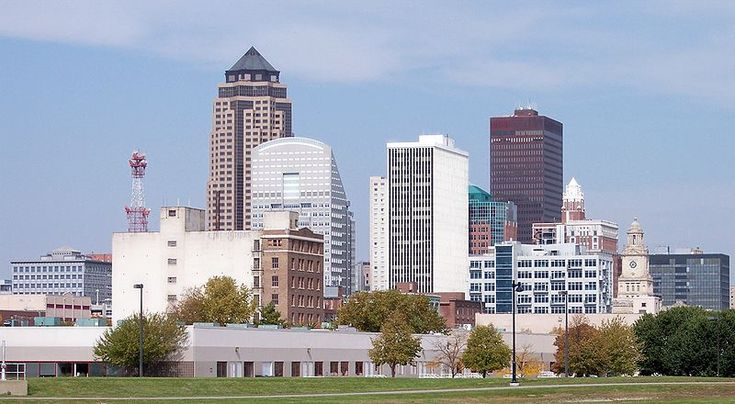 State Capitol in Des Moines skyline Best places to live