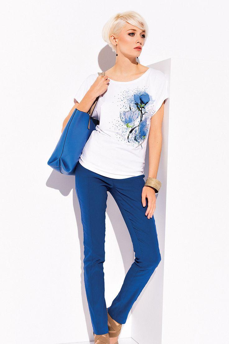 """БЛУЗКА SANDI Женская блузка с рукавом в стиле """"летучая мышь"""", полусвободного покроя."""