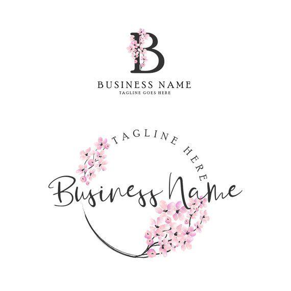 Premade Cherry Blossom Logo Sakura Logo For A For A Wedding Photography Wedding Agency Personal C Floral Logo Design Flower Logo Design Craft Logo