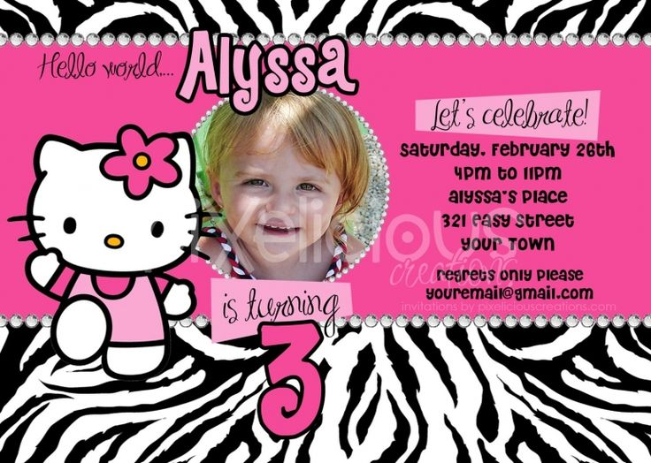 Best Birthdays Images On Pinterest Birthdays Flower And - Free hello kitty birthday invitation templates