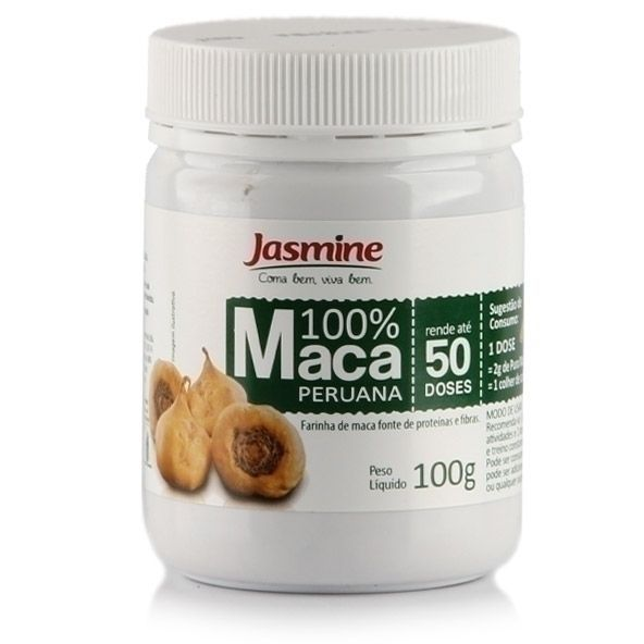 A Maca Peruana 100%, da Jasmine, é um produto em pó à base de maca peruana pura, um tubérculo com alto valor nutricional, já que é fonte de aminoácidos, carboidratos, gorduras saudáveis, fibras, vitaminas e minerais. Não contém conservantes, aditivos químicos, corantes ou aromatizantes artificiais.
