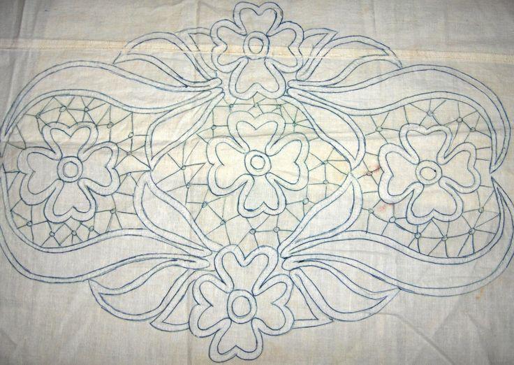 Zsinórcsipke mintája Romanian Point Lace pattern from Hungary