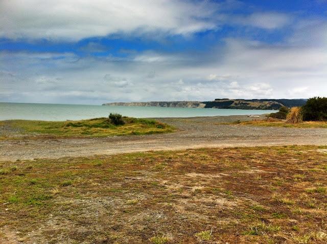 Te Awanga Beach over the road