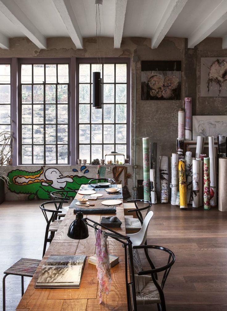 best 25 loft style ideas on pinterest studio loft. Black Bedroom Furniture Sets. Home Design Ideas