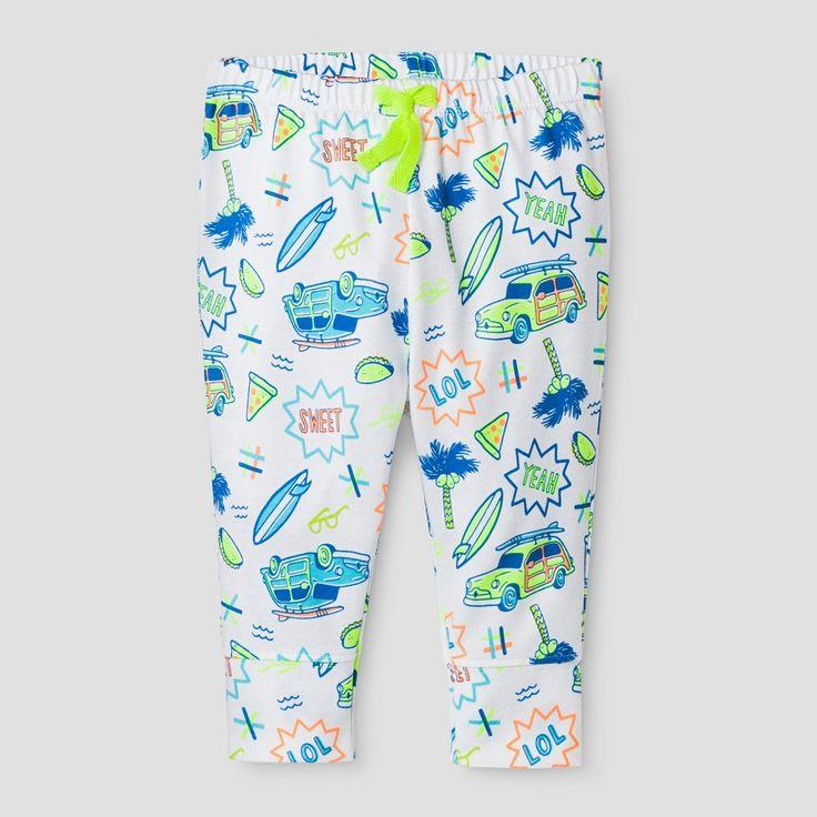 Baby Boys' Summer Icons Leggings Cat & Jack - White 3-6 Months, Infant Boy's, Size: 3-6 M