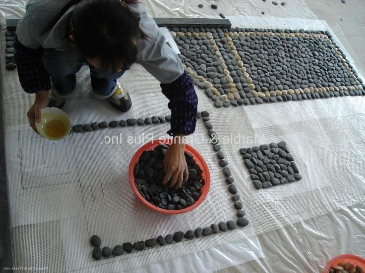 pebble mosaic - how to