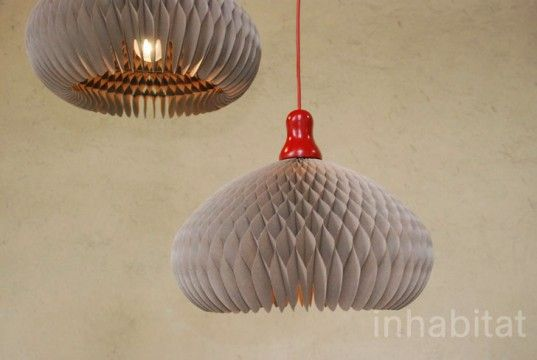 recycled paper shades by Pension Fur Produckte