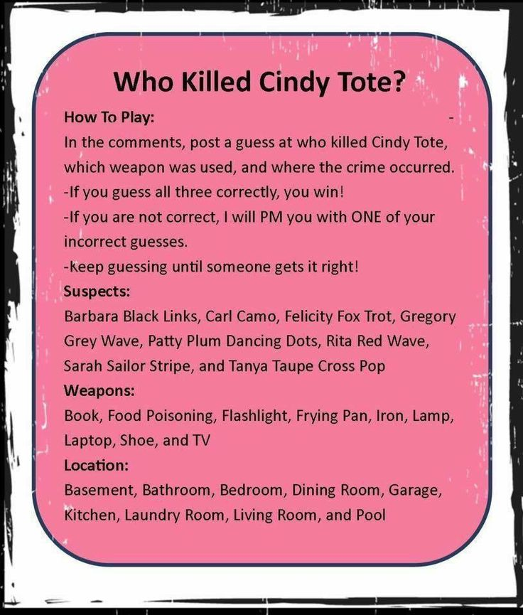 Who Killed Cindy Tote?                                                                                                                                                     More