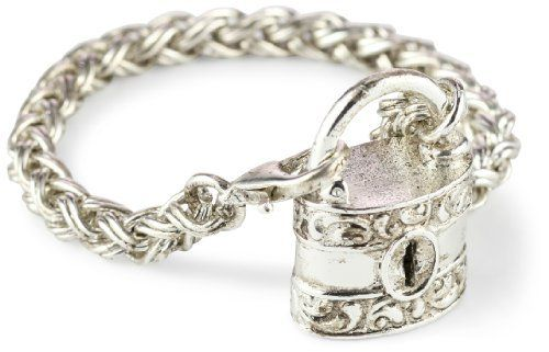 """Antiquities Couture Silver-Tone Burgess Chest Lock Bracelet Antiquities Couture. $55.00. Chain measures: 7""""L x 1/4""""W"""