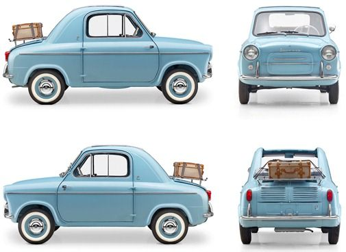 The most beautiful car that I ever did see: the Vespa 400. #car #style