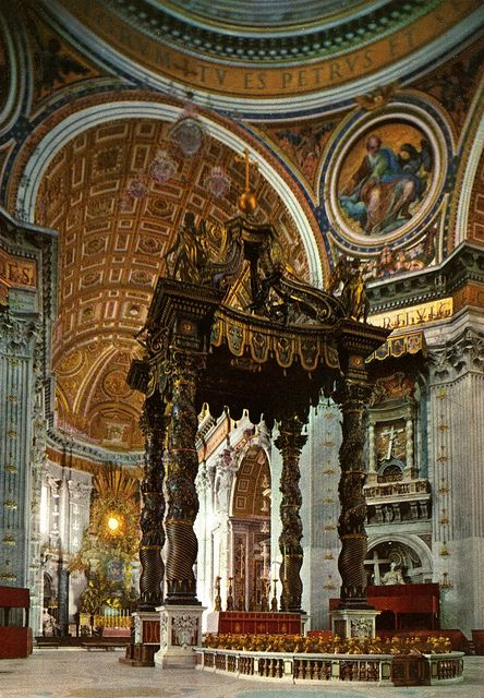 The Altar of Confession (Bernini), St Peters Basilica, Rome, Italy   Visited St. Peter's for our 25th Wedding Anniversary.
