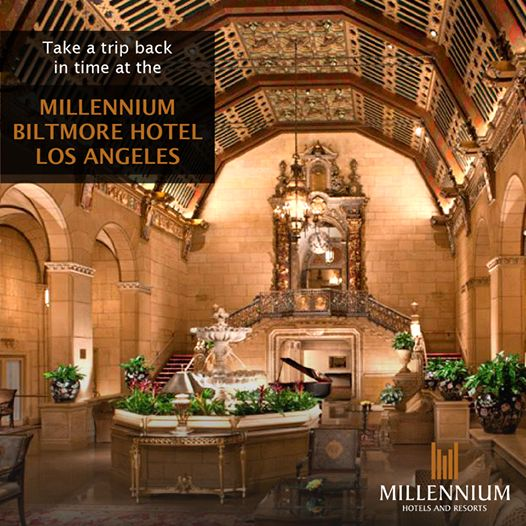 Millennium Biltmore Hotel Los Angeles: Find out more: http://www.millenniumhotels.com/usa/millenniumbiltmorelosangeles/