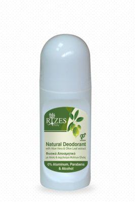 Natuurlijke deodorant met Aloe Vera and olijfblad extract.