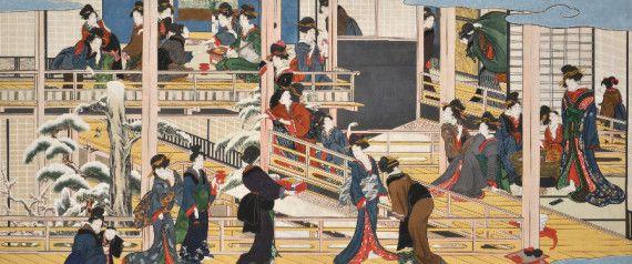 「深川の雪」 喜多川歌麿の幻の浮世絵が66年ぶりに一般公開