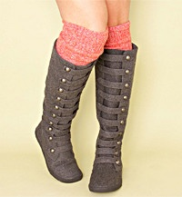 i feel like these might actually fit my calves! WHOA!