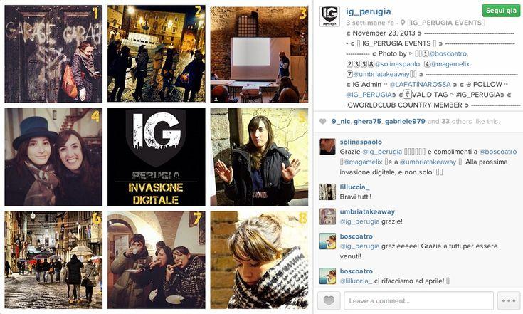 """Instagram ed IG_Umbria, da community online a rete territoriale"" a cura di Antonella Manca - 13 dicembre 2013 #cowinning"