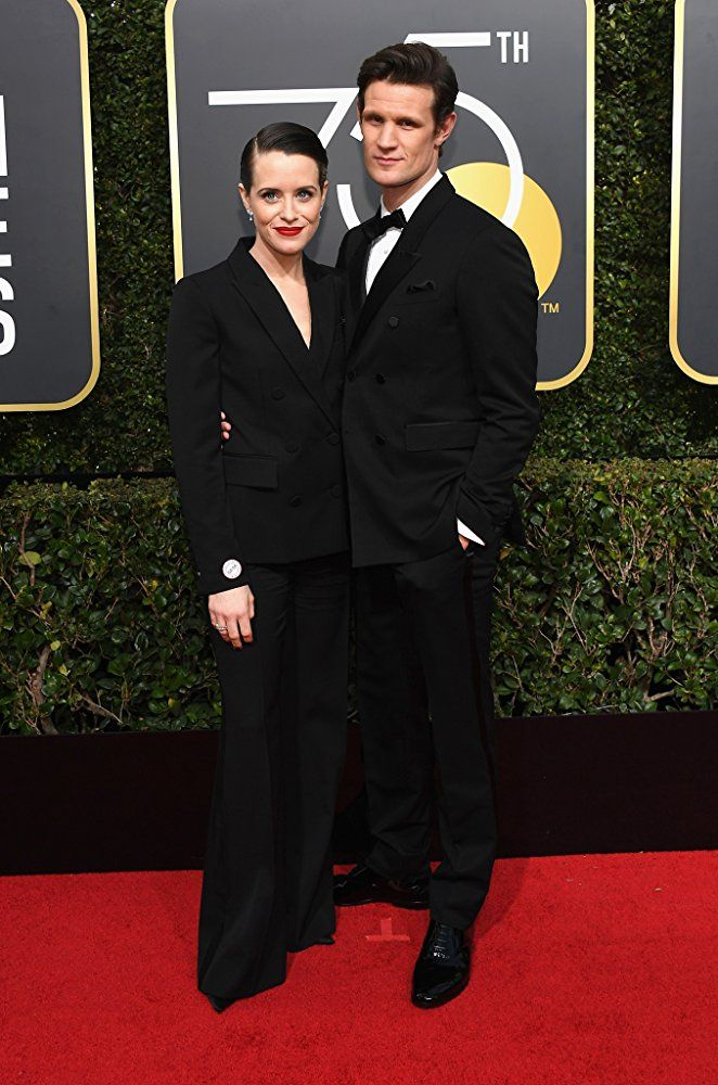 Matt Smith and Claire Foy at an event for The 75th Golden Globe Awards (2018)