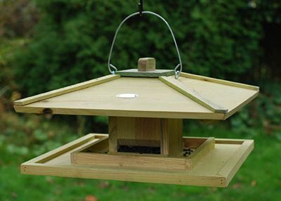 Japanese style bird feeder will make a statement in your garden.