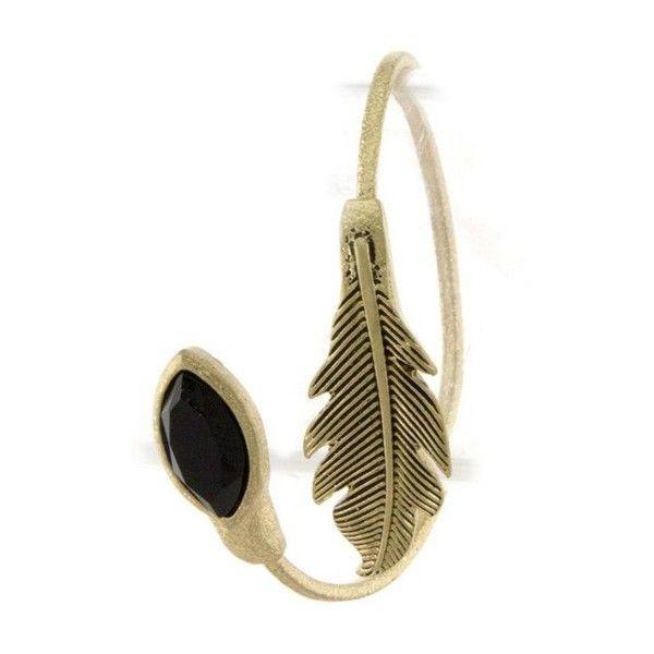 Lady Lux Feather Bracelet, Beach Jewelry   Lady Lux® Designer Swimwear found on Polyvore featuring jewelry, bracelets, accessories, bohemian bangles, boho style jewelry, feather bangle, beach bracelet and beach jewelry