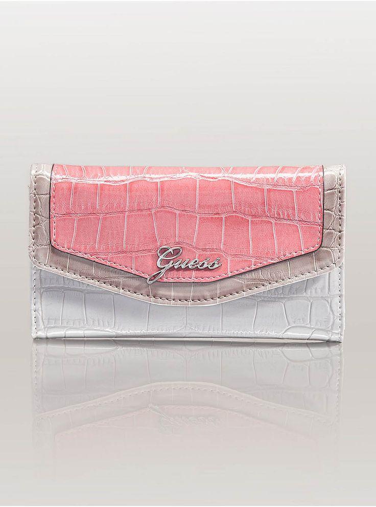 Pink/white/silver clutch
