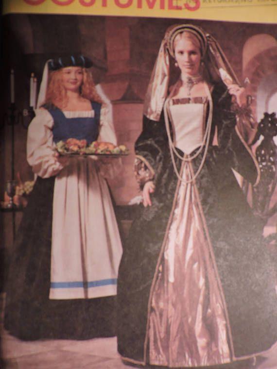 Renaissance Peasant Blouse Bodice Skirt & Underskirt Headpiece