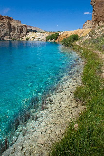 Clear blue water - Afghanistan                                                                                                                                                                                 More