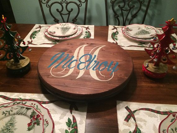 Personalized Lazy Susan by KeatonAveDesign on Etsy