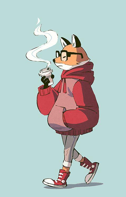 kitsune, fox, лисы, милые, иллюстрации, арт, arts, art, арты, foxs,