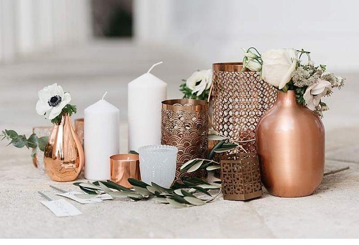 Hochzeits-Inspirationen in Kupfertönen von Marie Bleyer Fotografie