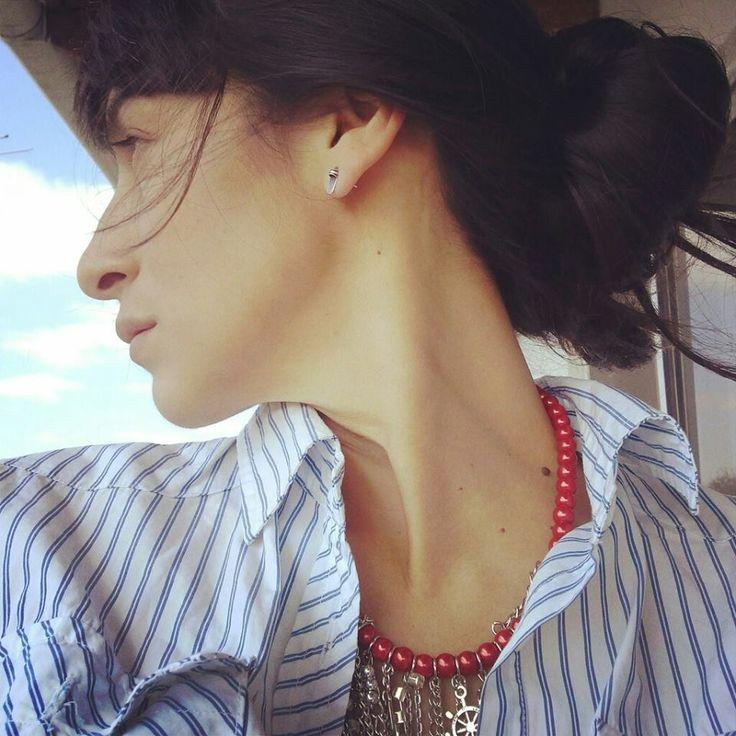 Navy Style #TrendHuntingBuenosAires collar #aLoMejorCarlota