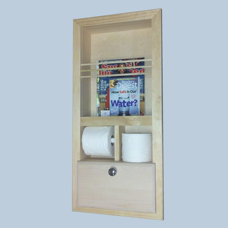 Recessed Bathroom Magazine Rack Woodworking Projects Amp Plans