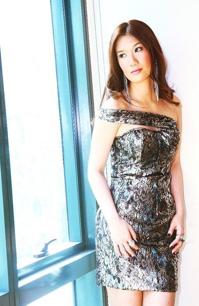 "Mariane Perez ""Doutzen"" dress | Asymmetric mini in metallic jacquard | Model: Nichole Mercado | Photographer: Mark Perez  #marianeperez #fashion #cocktaildress #eveningwear"