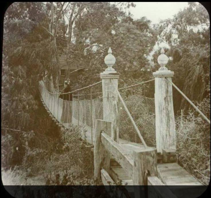 Believed to be the swing bridge over the Werribee River.