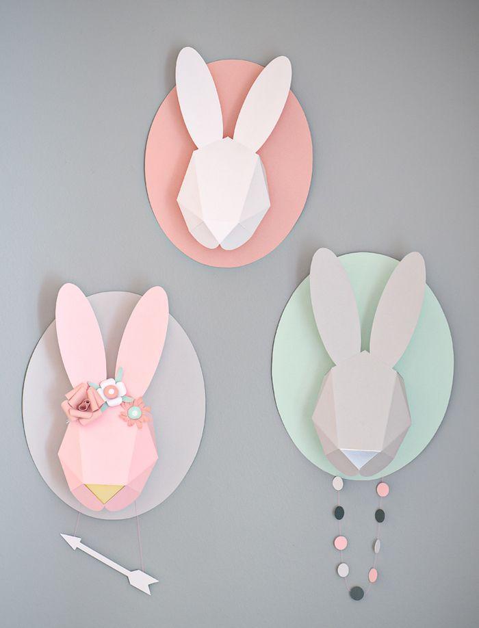 bunnies: Idea, Paper, Animal Head, De Lapin, Baby, Kids, Bunnies, Diy