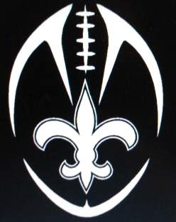 Tribal New Orleans Saints Decal Sticker  -  NEW DESIGN - Car Truck Window Laptop