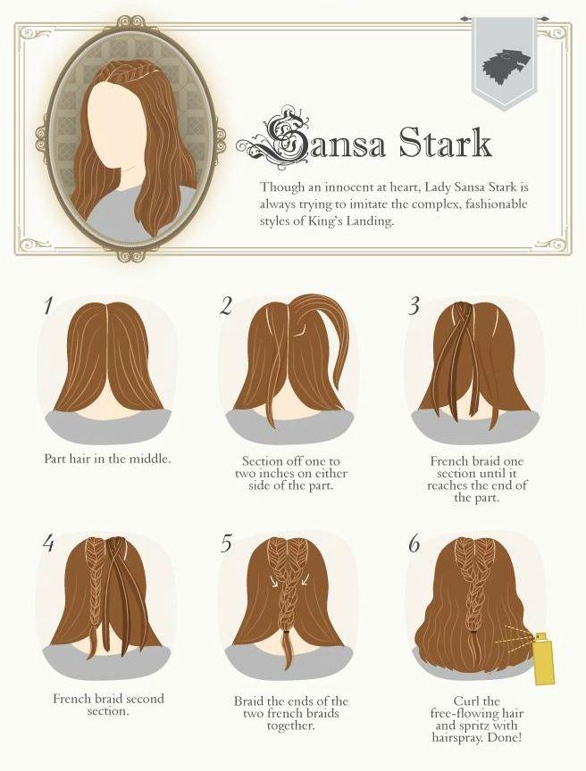 Game of Thrones Braid Tutorial: Sansa Stark