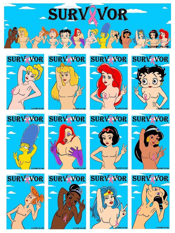 "Humor Chic: ART - Iconic female cartoon characters ""SURVIVOR"" by aleXsandro Palombo"