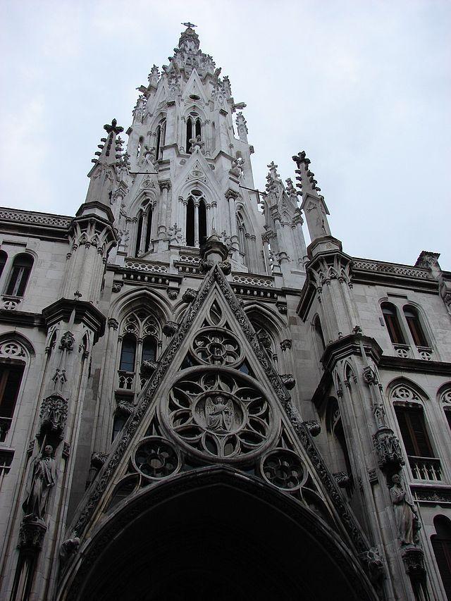 Cuba, Havana Iglesia del Sagrado Corazon Church of the Sacred Heart Neo-Gothic Style, consecrated 1923