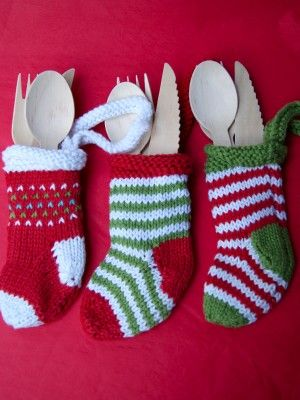 Cutlery Christmas Stocking Knitting Pattern : 17 Best images about Stuff I want to make on Pinterest Free pattern, Stocki...