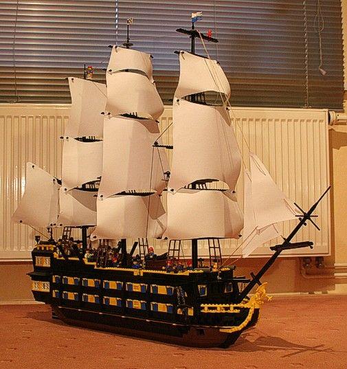 Huge lego pirate ship
