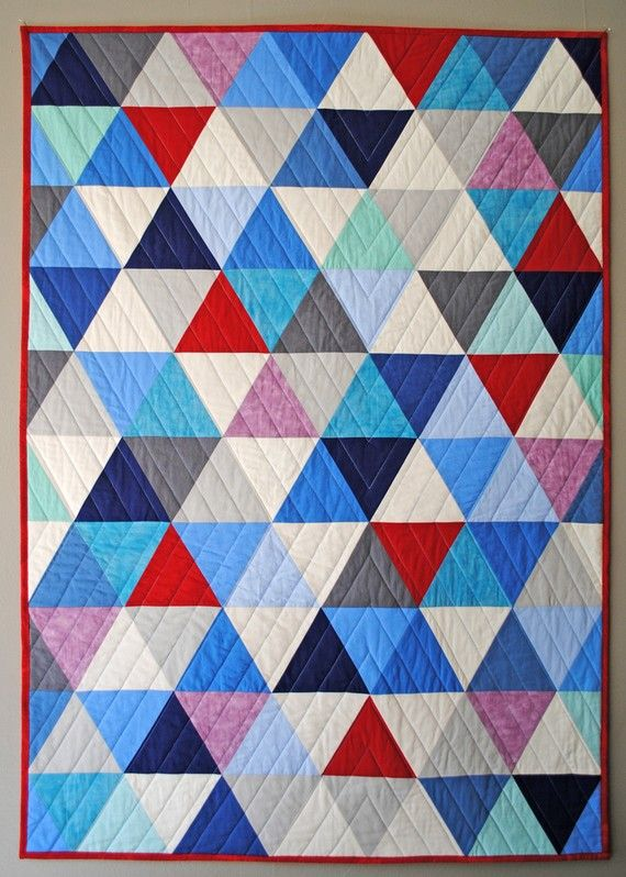 quilt que si mola: Equilater Triangles, Cribs Quilts, Triangle Quilts, Quilting, Quilts Design, Quilts Ideas, Equilat Triangles, Modern Quilts, Triangles Quilts Patterns