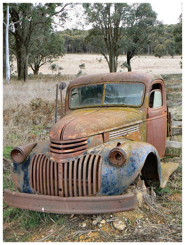Remnants Of 40 S Truck Body Taken By Myself In Rural Nsw Australia Chevy Trucks Trucks Old Trucks
