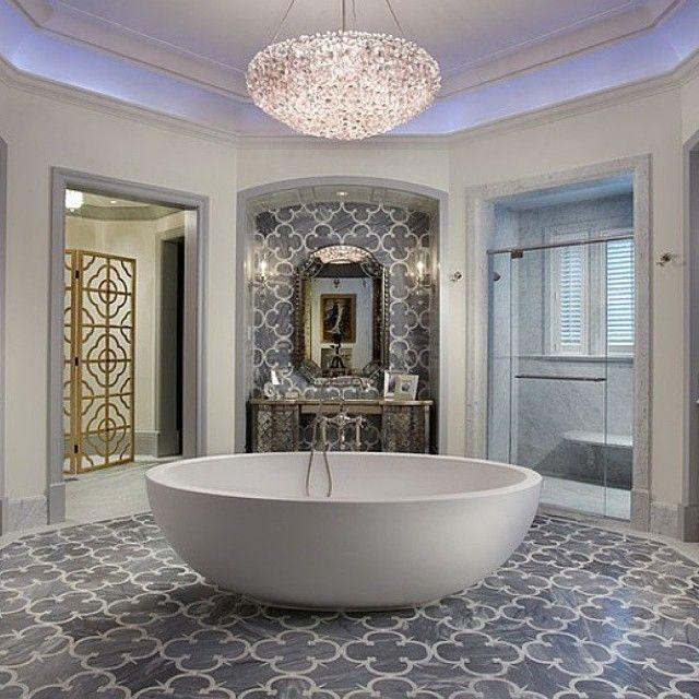 Bathroom magnificence! #apaiser #freestandingbath #stonebath #bath #reclaimedmarble #bathroomdesign #interiordesign